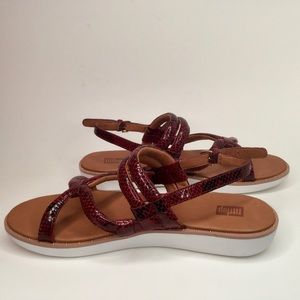 Fitflop studded snake skin pattern sandals.